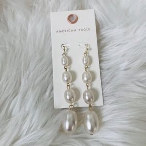 American Eagle boho Pearl drop earrings
